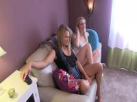Heather & Tara make dad cum!