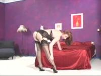 Amazing Redhead Full Fashioned Foot Play