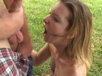 outdoor throatfuck by strangers