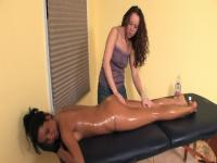Lesbo Oil Massage - With a Oops (Fart Slide) - Cireman