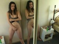 Masturbating near the mirror