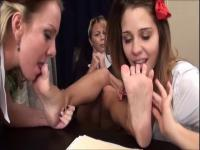 Catholic school angels & nun lesbo foot worship