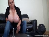 minimal tugjob tease with large natural meatballs