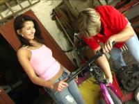 Lovely tall teen hottie nailed with a big prick