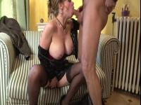 Delicious big titted mature gets fucked in the booty