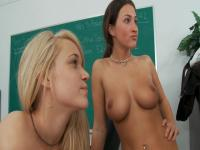 Teacher cums in his students' mouths