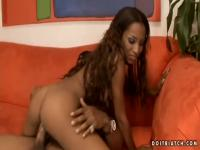 Tina Price gets black dick in her black pussy