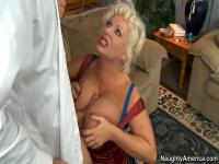The milf Claudia Marie with the big tits fucks Bill Bailey
