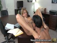 Secretary Brooklyn Lee pleasures Marco Banderas