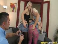Angela and Jenna Lovely getting naughty with their boyfriends