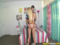 Blonde teen Alyssa Branch in hot oral with Chris Strokes