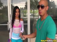 Bruno Dickenz and petite Nadia Mills have some fun