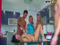 Hot fucking cooking with sexy Russian teen whores!