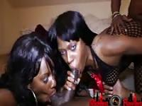 Dirty ebony girls take the dick
