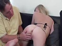 Breaking in a young ass