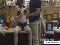 Chick in glasses pounded at the pawnshop