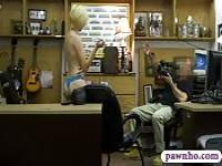 Hot blonde pounded by nasty pawn dude