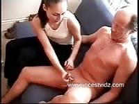 Handjob for daddy