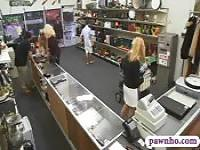 Hot blonde milf fucked by pawn keeper