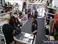Two bitches try to steal at the pawnshop