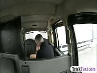 Busty whore fucked by drivers hard cock