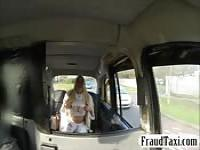 Huge boobs passenger banged in the taxi