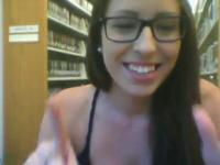 Amateur hipster in the library