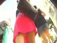 A nice sunny upskirt day for voyeurs chasing exposed asses
