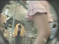 Upskirt film made by a perverted voyeur guy