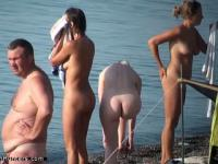 Unaware nudist hotties