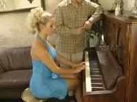 Piano teacher fucks girl girl in anus while alone atme