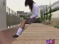 Young innocent schoolgirl experiences sharking action during the afternoon