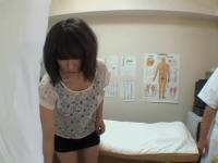 Curvy Japanese enjoys in a hidden cam massage action