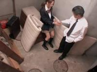 Hot Jap in miniskirt gives a great BJ in spy cam sex video