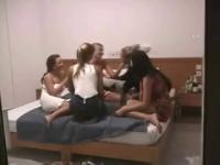 Non-Professional Lesbo Fuckfest - Hidden Web Camera - Part two