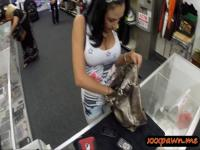 Big juggs latina slut pawned pussy n nailed in the pawnshop
