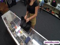 College girl sells her textboobks and banged at the pawnshop