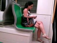 Candid in train-1