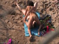 69 position beach oral fun