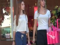 Candid voyeur video shows hot cutie on the street