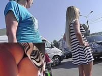 Buttocks shaking sweet in the upskirt close up video