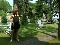 Elegant Simona Valli Loves Out Door DP Fun