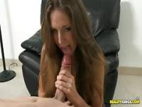 Hot chick gets teased by a cock