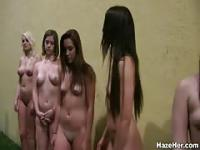 College hazing girls get naked