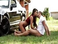 Sexy couple fuck on the ranch