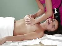 Pleasing lesbian massage