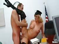 Nice banging with a female officer