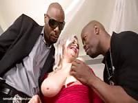 Klaudia Kelly fucked by two black guys