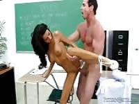 Amazing fuck in the classroom