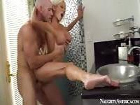 Wild fuck with Nikita Von James in the bathroom